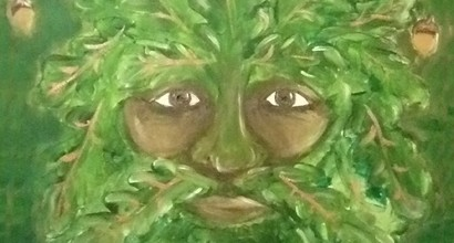 Green Man Painting