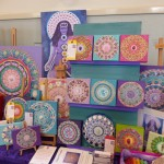 Stand at the Festival of Psychic Art, Glastonbury